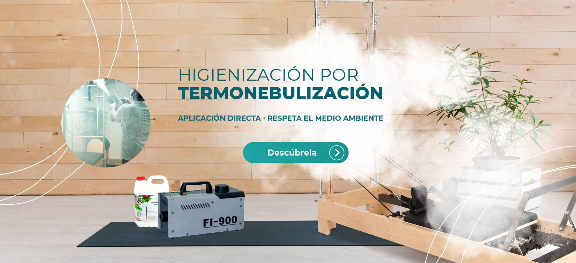 Máquina desinfectante por Termonebulización