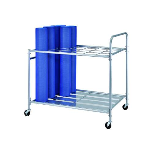Metal trolley for 24 cylinders