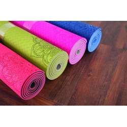 Tapis de Yoga bicolore en TPE