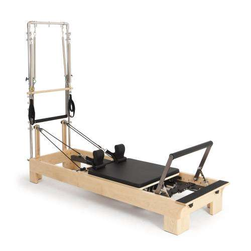 Pilates wood reformer with tower
