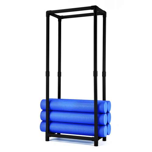 Vertical rack for 20 cylinders.